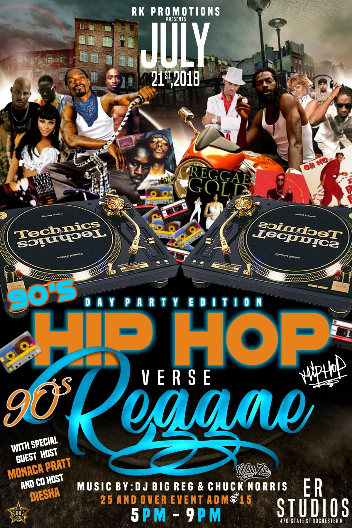 90'S HIP HOP VERSE 90'S REGGAE DAY PARTY EDITION